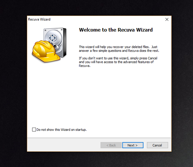 recover deleted files Recuva