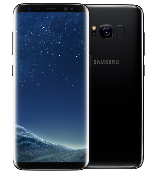 The front and back of the Samsung Galaxy S8