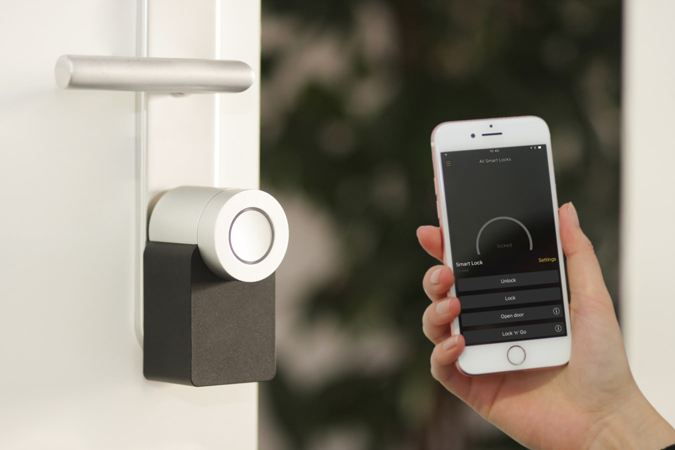 Use smart home security system to monitor